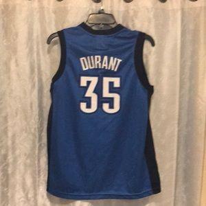 NBA Kevin Durant Oklahoma City Thunder Jersey YXL!